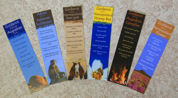 Guidance bookmarks for South African and Namibian landscape and animals
