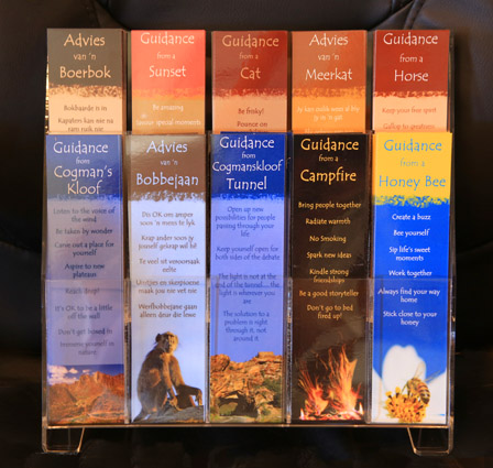 Guidance bookmarks in bookmark stand - special for shops