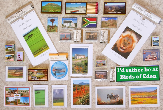 personalized fridge magnets, save the date magnets, acrylic keyrings,triangular keyrings, fridge matchboxes with long braai matches and safety matches, South African postcards, postcards for Namibia and Botswana, birthday calendars, calendars, notelet cards, square cards, sepia cards, black and white cards, DL cards, bookmarks, vinyl stickers (license discs), bumper stickers, personalized cd clocks, reverse clocks,  wooden trays, cork coasters, cork placemats and pot stands.  Prints, black and white images, photo blocks, sepia canvas prints and blocked prints