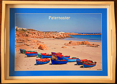 Personalized wooden tray of Paternoster